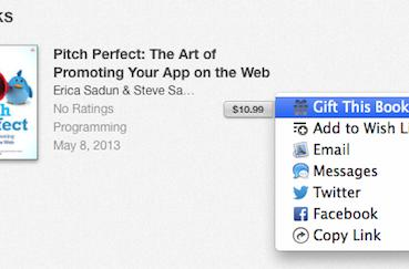 Just in time for the holidays, iBooks Store adds the ability to send iBooks as gifts
