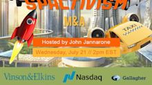 Today at 2pm ET: SPACtivism and M&A with Vinson & Elkins, Nasdaq, Gallagher, Stifel, Morrow Sodali, ICR