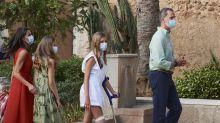 ¿Por qué llevaba una muleta la infanta Sofía en Mallorca?