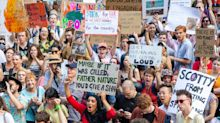 Thousands Gather At Sydney Climate Rally As Bushfire Crisis Continues