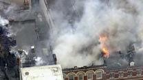 Around the World: Fire rips through historic London building