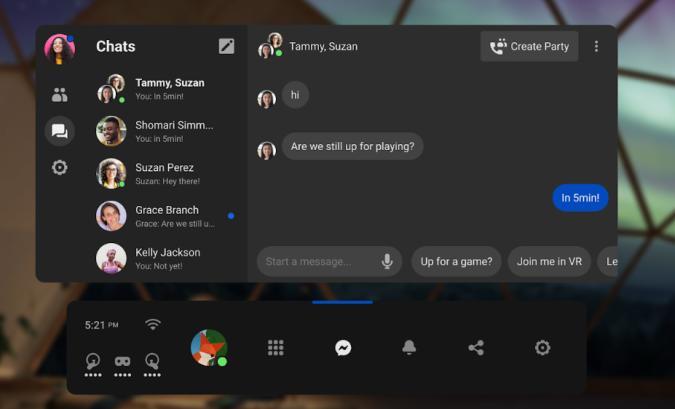 Facebook Messenger on Oculus