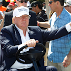 Trump commits one of golf's cardinal sins