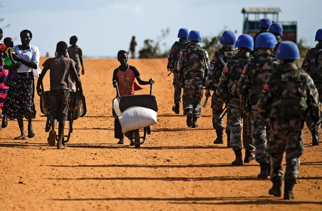 The UN force in South Sudan, known as UNMISS, has come under fire over allegations its peacekeepers did nothing to protect civilians from violence in Juba by Sudanese troops in July 2016 (AFP Photo/ALBERT GONZALEZ FARRAN)