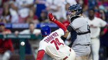 Segura's 2nd straight walkoff lifts Phils over Yankees 8-7