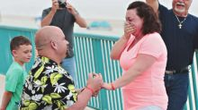 Man rushes to include girlfriend's dying grandparents in his beachside proposal