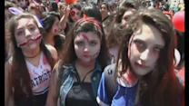 Zombies walk the streets of Santiago