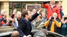 Frontrunners Macron, Le Pen vote in French election