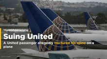 A United passenger is suing the airline after he allegedly fractured his spine on a plane (UAL)