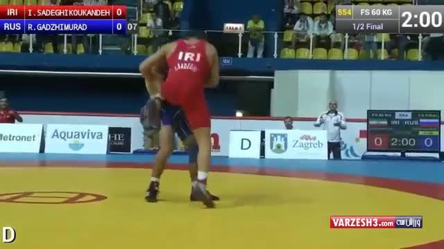 Incredible wrestling technique performed by Iranian wrestler Iman Sadeghi