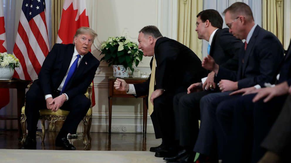 Trump says Pompeo, Mulvaney could testify in a Senate impeachment trial