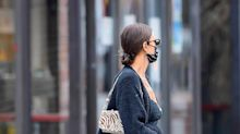 Irina Shayk Pushed a Stroller Around New York City in a Robe and Knee-High Boots