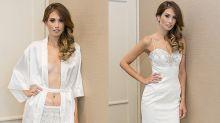 Bride with ostomy bag rocks the 'tightest, most form fitting' wedding dress of her dreams