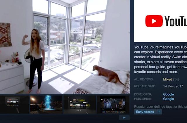YouTube debuts 360-video app on Steam VR
