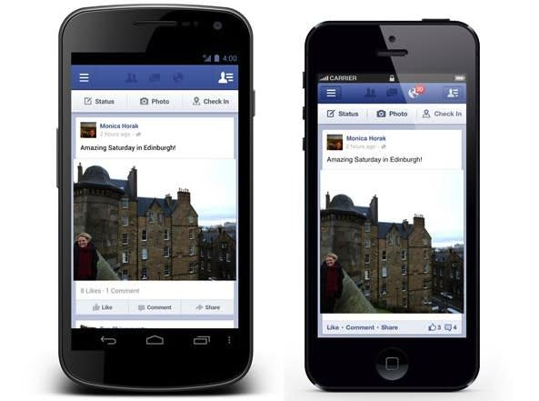 Facebook users can now share via Android and iOS apps