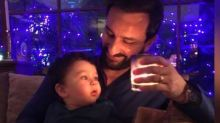Adorable - Saif Ali Khan and Taimur Ali Khan twin in this cute picture
