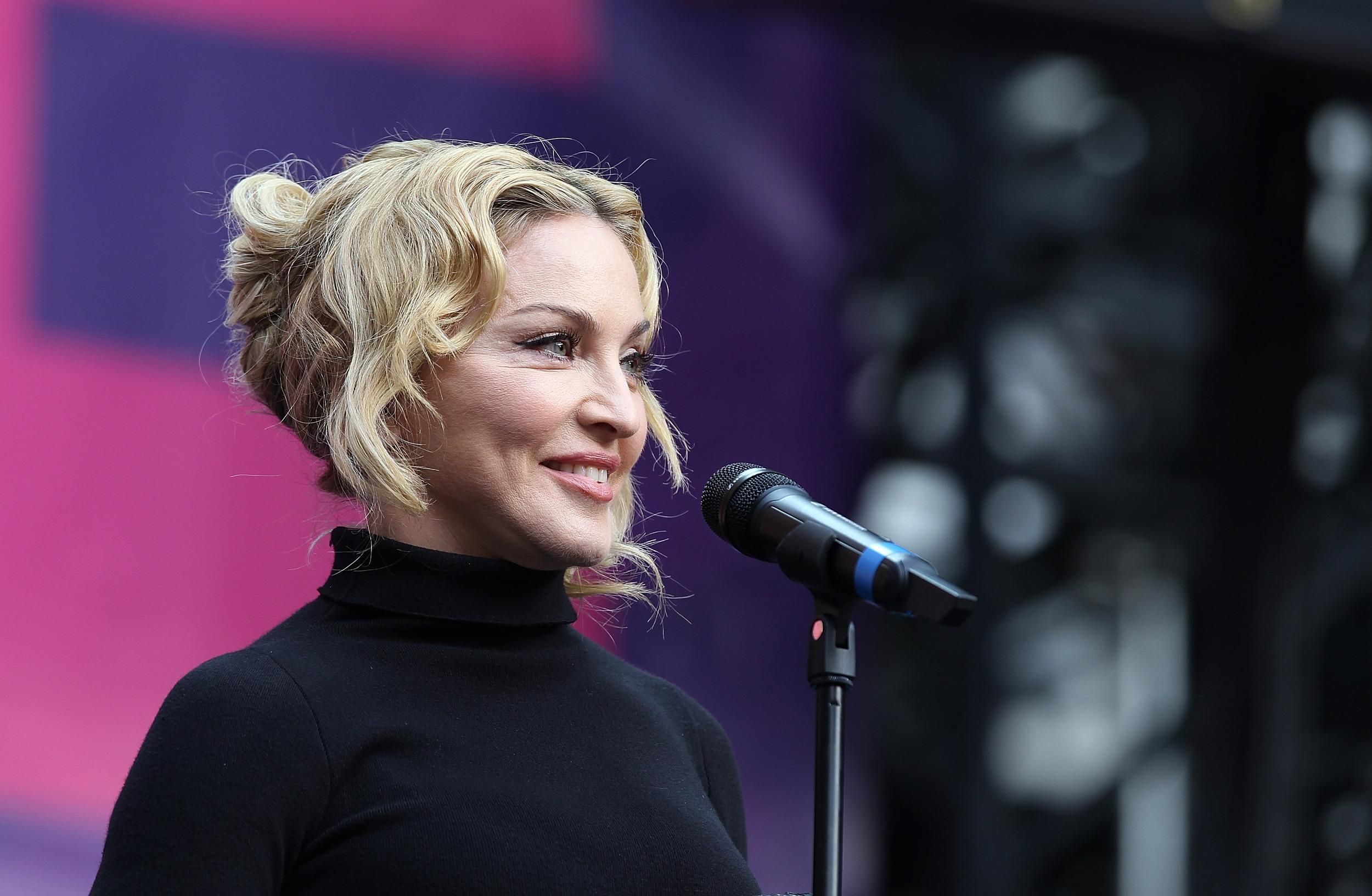 At the age of 55, critics have been insisting that her finest days were two decades behind her. Her latest album sold fewer than 1 million copies, and her recent singles have failed to make the impression they once did.<br /> <br /> But Madonna has silenced the critics - raking in an astonishing $125 million in one year. That's $25 million more than her nearest rival. Her $305 million wold tour was the major money maker, but her fashion and perfume brands helped too.<br /> <br /> This is Madonna's biggest-earning year of all time - surpassing her previous record in 2009 of $110 million.