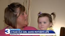2-year-old girl's quick thinking might have saved her mom's life