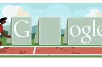 Today's Google Doodle takes to the Track and Field