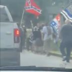 Right-Wing Militia and Counter-Protesters Gather at Georgia's Stone Mountain Park