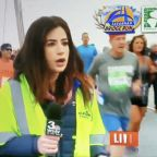 Reporter left stunned after runner gropes her on live television during a race