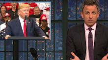Seth Meyers Stunned By Donald Trump's 'Insane New Paranoid' Conspiracy Theory