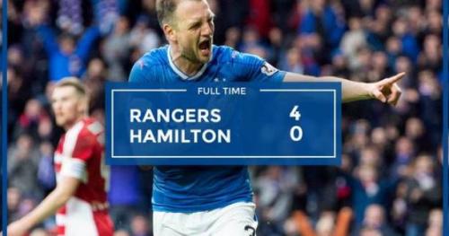 Foot - ECO - Les Glasgow Rangers étrillent Hamilton (4-0)