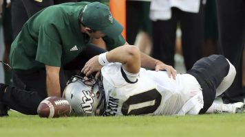 UCF QB talks about nearly losing his leg
