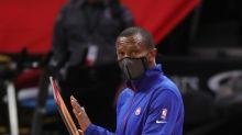 Detroit Pistons coach Dwane Casey reacting to No. 1 draft pick is pure joy