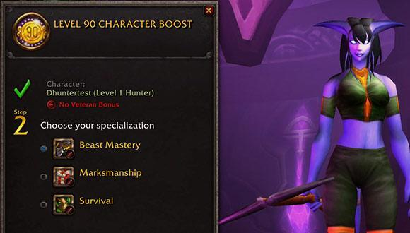 Patch 5.4.7 PTR: Level 90 character boost UI