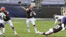 Twitter reacts to Baker Mayfield's rough outing vs. the Ravens