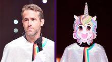 Ryan Reynolds aparece por sorpresa en un programa coreano ¡cantando y vestido de unicornio!