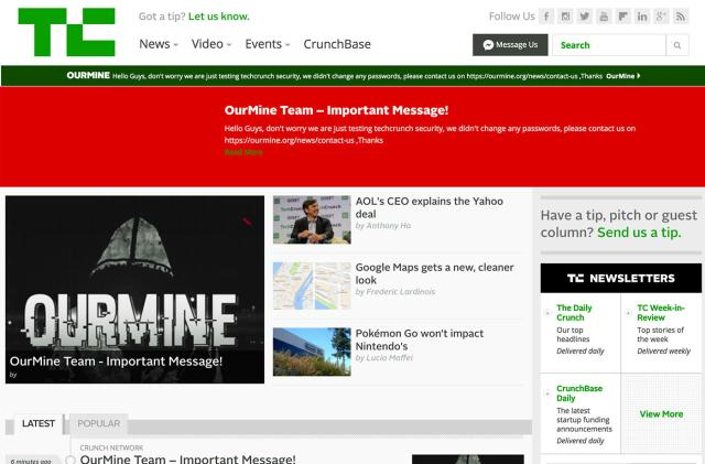 OurMine 'hackers' are targeting news sites now