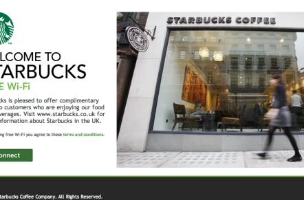 Starbucks brews up free, two-click WiFi in the UK