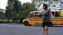Mom Dances to 'Happy' on First Day of School