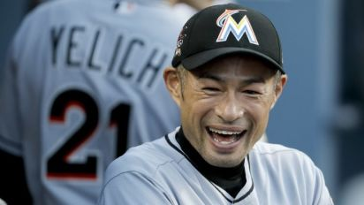 Ichiro becomes oldest player to start in CF