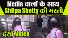 Shilpa Shetty spotted in sporty look outside her house   Watch video