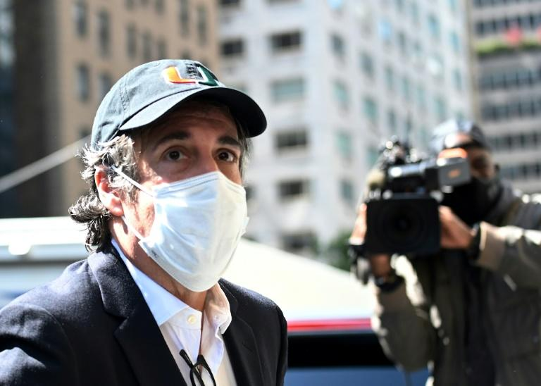 Michael Cohen, pictured here when he returned to his Manhattan home from prison in May 2020