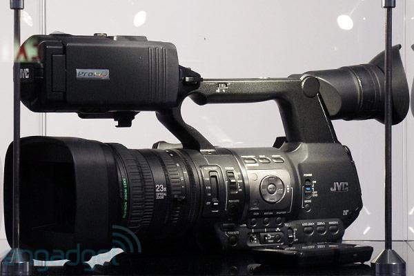 JVC demos GY-HM600, launches HM650 Mobile News Camera with WiFi and FTP at NAB