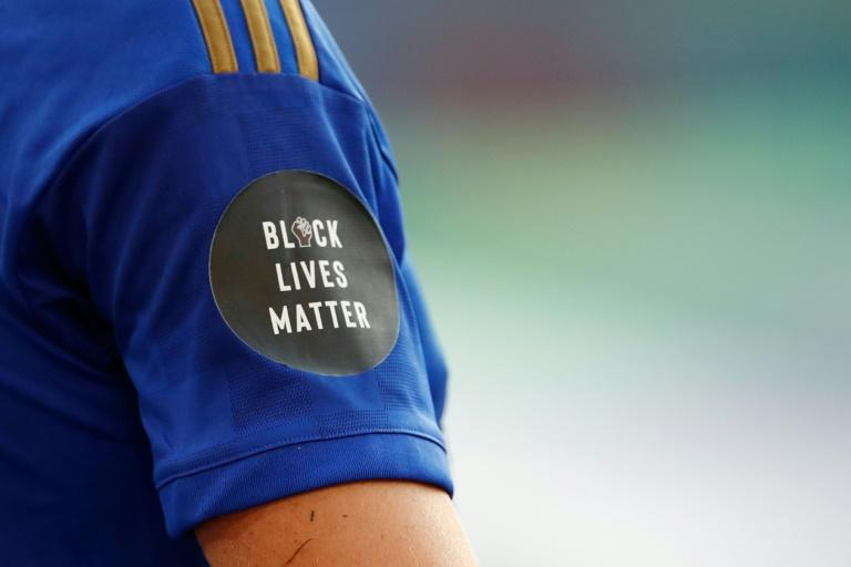 """""""Black Lives Matter"""" logos are already being worn by Premier League footballers (AFP Photo/ANDREW BOYERS)"""