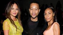 Pinkett-Smith, Legend Attend Vera Wang's Show