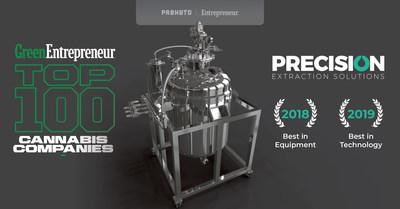 Precision Awarded Best in Technology on Entrepreneur's List of Top 100 Cannabis Companies