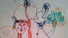 Jovem desenha família desde os 3 anos de idade e mostra a evolução de seu traço aos 31