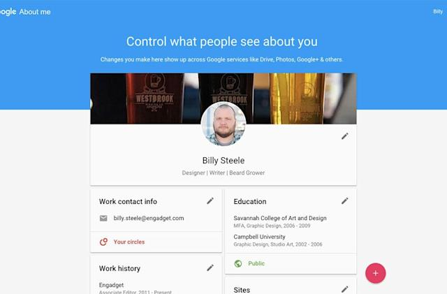 Google's 'About me' is your all-inclusive profile for the company's apps