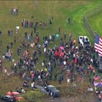 Demonstrators gather for Portland rallies