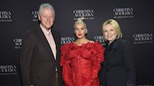 Concertgoers 'went crazy' when Hillary and Bill Clinton walked into Christina Aguilera concert