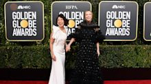 Sandra Oh and Jodie Comer's red carpet reunion dubbed 'best moment' of 2019 Golden Globes