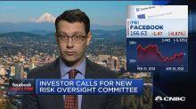 Facebook investors call over more risk oversight