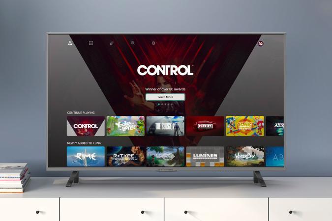 Amazon Luna game streaming home screen