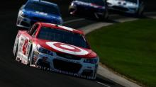 Target leaving Kyle Larson's car at the end of 2017